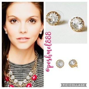 :: Stella & Dot Nancy Crystal+Gold Stud Earrings